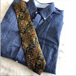Fendi Silk Floral Paisley Tie